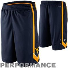Nike West Virginia Mountaineers Dri-FIT Tourney 1 Basketball Shorts - Navy Blue
