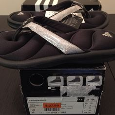 NEW ADIDAS CHILWYANDA K UNISEX SIZE 13K CHILDREN · BRAND NEW WITH BOX   · SIZE: 13K UNISEX CHILDREN · DESCRIPTION: ADIDAS CHILWYANDA K; COLOR: BLACK/METAL SILVER · SUGGESTED PRICE: $28    WILL SHIP WITH ORIGINAL BOX  Adidas Shoes