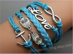 Infinity infinity bracelet anchor bracelet cute by 2014goshopping, $4.69