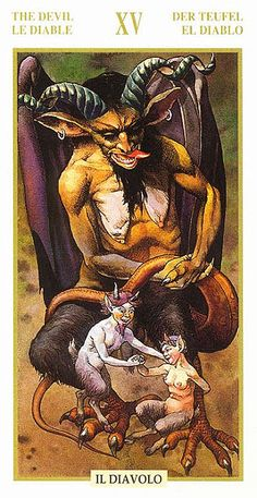 The Devil - Tarot of the Hidden Folk Find out what the Devil means for you: www.tarotbyemail.com