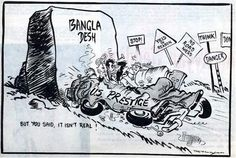 The 1971 Bangladesh War smashed Pakistani and the US foreign policy. http://wp.me/p8KUL-1UZ    RK Laxman cartoon in the 1971 Bangladesh War.