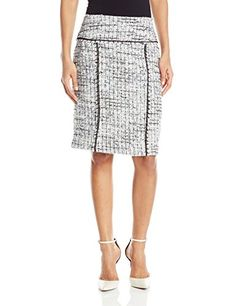 Anne Klein Women's Boucle Trim Skirt