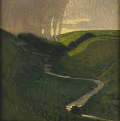 'A Rain Shower' (1910-11) by Swedish painter Ellen Trotzig (1878-1959). Oil on canvas. collection: Malmö Konstmuseum. via a long time alone