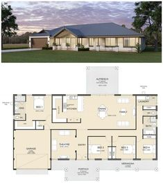 The Birchmont Executive 2 Storey home by Great Living Homes is a balance between modern design & innovation, ideal for family living in Mandurah & Perth 4 Bedroom House Plans, Family House Plans, New House Plans, Dream House Plans, House Floor Plans, Modern Bungalow House, Bungalow House Plans, House Layout Plans, House Layouts