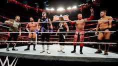 Backstage, Stephanie McMahon announces that Owens will defend his title at WrestleMania against all six Superstars in a Ladder Match.