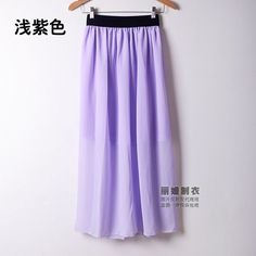 Fashion 2016 Summer Women Skirt Plus Size Elastic High Waist Chiffon Skirt Ankle Length Bohemian Beach Long Skirts Womens