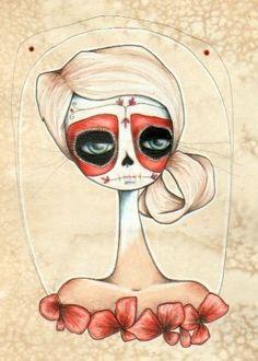 poppy . Dia de los Muertos aceo print by daltonabbey on Etsy, $5.00