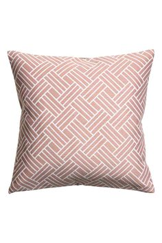 Jacquard-weave cushion cover - Dusky pink - Home All | H&M GB 1