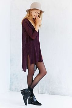 Silence + Noise Step-Hem Cardigan Sweater - Urban Outfitters
