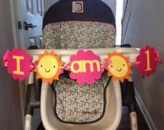 You are my sunshine high chair banner, you are my sunshine theme, sunshine baby's first birthday