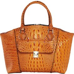 Vicenzo Carrina Croc Embossed Dome Tote - Brown - Totes (£140) ❤ liked on Polyvore featuring bags, handbags, tote bags, brown, tote handbags, handbags totes, crossbody purses, tote purses and crossbody pouch