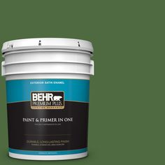 BEHR Premium Plus 5-gal. #440D-7 Vineyard Satin Enamel Exterior Paint