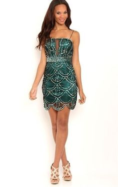 Deb Shops Beaded Short Homecoming Dress with Plunge Neckline