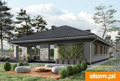 DOM.PL™ - Projekt domu AN KONICZYNKA G2 CE - DOM AO8-58 - gotowy koszt budowy Modern Bungalow House, Modern Houses, House Goals, Home Fashion, Gazebo, Cool Stuff, Random Stuff, Malaga, New Homes