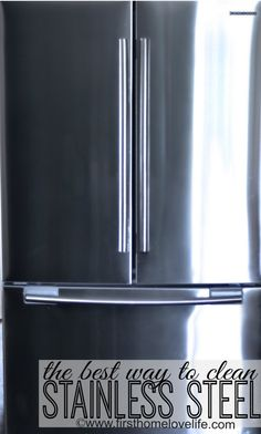 How to make your stainless Stainless Steel appliances shine!!!!! #cleaningtips #spon #clean #kitchen
