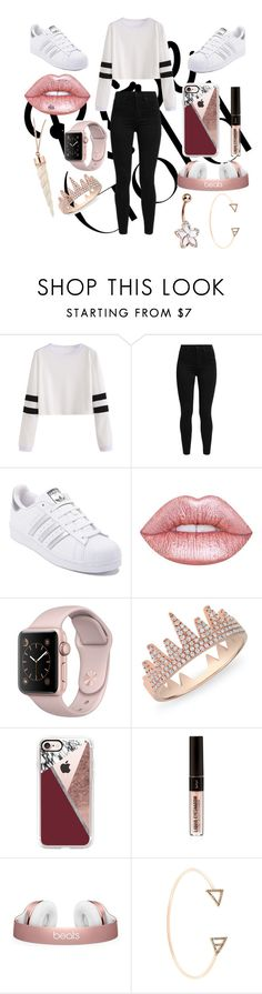 """rose gold jewelry"" by britxd ❤ liked on Polyvore featuring Levi's, adidas, Lime Crime, Anne Sisteron, Casetify and Alexia Jordan"