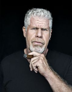 Man with silver fox flattop hairstyle Ron Perlman Style Ron Perlman, Cigar Men, People Smoking, Good Cigars, Up In Smoke, Cigar Smoking, Hollywood Actor, Attractive Men, Movie Stars