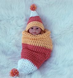 Candy Corn Cutie - I love the hat but I don't like baby cocoons