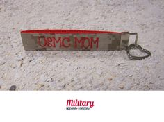 """This handcrafted key chain is proudly Made in America. Our patriotic key chain is just the right size so you'll never lose your keys again! Moreover, this US Marine Corps Mom key chain is the perfect item to show off your military pride.   Handcrafted from genuine military fabric and strong nylon webbing, this key chain will stand the test of time. Excellent gift for yourself and for your Military friends and family members!!! 1""""x6"""""""