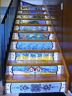 Staircase. I want to do this on our back steps.