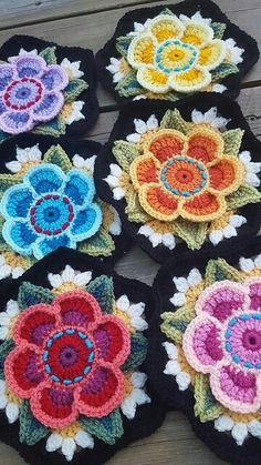 FREE DK Ravelry: Project Gallery for Frida's Flowers Blanket pattern by Jane Crowfoot Crochet Club: Janie Crow and the Frida's Flowers CAL Ravelry is a community site, an organizational tool, and a yarn & pattern database for knitters and crocheter Crochet Puff Flower, Crochet Flower Patterns, Crochet Blanket Patterns, Crochet Designs, Crochet Flowers, Knitting Patterns, Crochet Blankets, Crochet Afghans, Crochet Motifs
