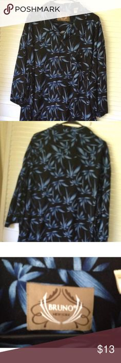 3f6687b2da4de Men s XLT4 Hawaiian Casual Navy Palm Tree Shirt This is a wonderful big   amp  tall