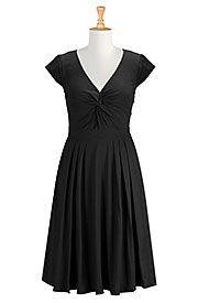 Twist front cotton knit dress