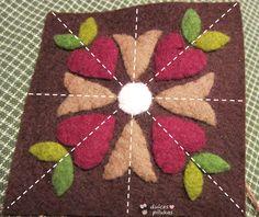 dulces pilukas: Tutorial unir piezas de fieltro. Alfiletero guardatijeras