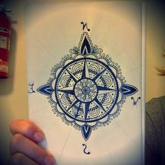 Just finish drawing this. Compass mandala pointing my way home. What do you think?