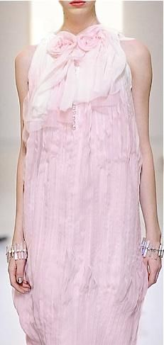 Chanel. Omg! How beautiful! Pink romantic gown.