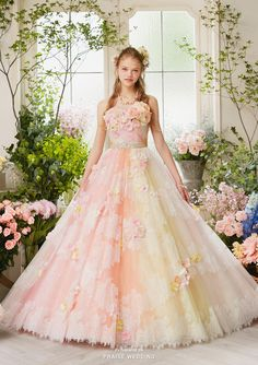 Praise Wedding: Love at first sight with this romantic pastel gown from Nicole Collection! Most Beautiful Dresses, Pretty Dresses, Pink Colour Dress, Pastel Gown, Rainbow Wedding Dress, Warm Dresses, Quince Dresses, Fairy Dress, Ball Gown Dresses
