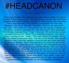 A Percy Jackson headcanon From @_percy_posts_ on Instagram!!