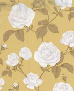 Countess:+Mustard+Wallpaper+from+www.grahambrown.comDining room.
