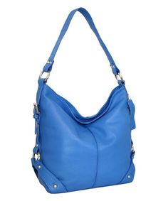 Take a look at the Blue Belinda Leather Hobo on #zulily today!