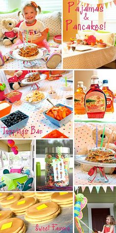 Pajamas and Pancakes! I love this theme! We may have to have this instead of rainbow!!