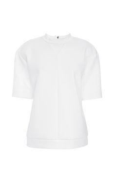 Shop Neoprene Sweatshirt by Peter Som for Preorder on Moda Operandi
