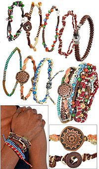 Guatemalan Eight-Strand Earth Bracelet at The Animal Rescue Site Created to help women worldwide gain economic security for themselves and their families by earning fair wages for their handiwork,