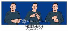 """BSL for """"vegetarian"""""""