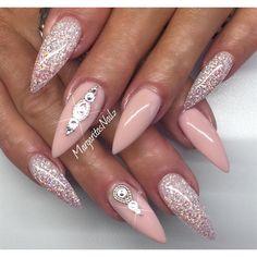 Sexy Stilettos by MargaritasNailz via @nailartgallery #nailartgallery #nailart #nails #gel #glitter #geldesign #glitternails #gelnails #nude #ombre #glitterfade #stilettonails