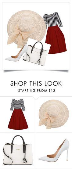 """Navy Style"" by marian-garcia-gonzalez on Polyvore featuring moda, Calvin Klein y Gianvito Rossi"