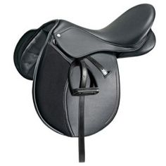 SELLE D'EQUITATION SYNTHIA NOIR 18' - Decathlon