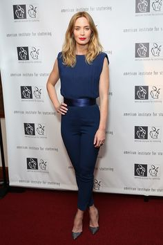 Emily Blunt in Elisabetta Franchi // Check out our top 10 best dressed celebs this week.