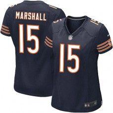Women s Nike Chicago Bears  15 Brandon Marshall Elite Team Color Blue Jersey   109.99 Custom Sports 5ac36effc