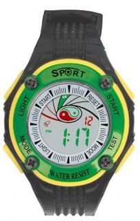 LED Digital Watch with Calendar, 30m Water Resistance Green Womens Item No. : 55550  Price : $4.99  Category : Sport Watches