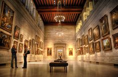 Museum of Fine Arts, Boston - European gallery with clerestory.