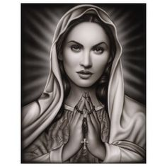 Praying Mary, Print by Spider