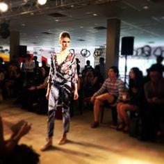 #SneakPeek of @kajdesignsLIVE #blueprint runway show with @estuaryPR. #WrapPeasantBlouse & #ClassicTwillTrousers.