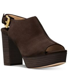 MICHAEL Michael Kors Piper Block-Heel Dress Sandals | macys.com