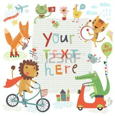 childhood: cute background Illustration