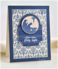 Silent night card by Debbie Olson for Papertrey Ink (October 2011).